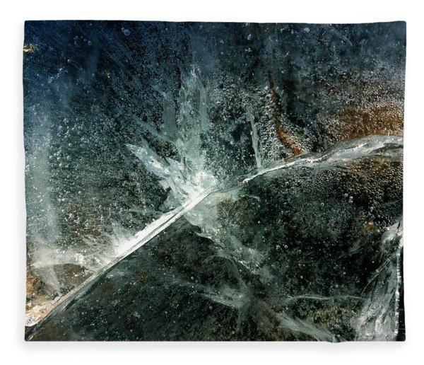 Fleece Blanket featuring the photograph Ice Winter Denmark by Colette V Hera Guggenheim