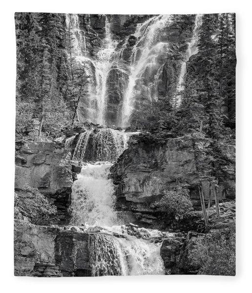 Icefields Waterfall Fleece Blanket