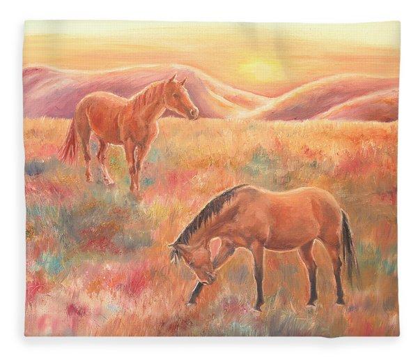Impressions At Sunset Fleece Blanket