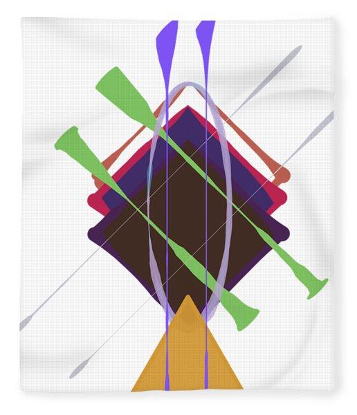Fleece Blanket featuring the digital art Improvised Geometry #3 by Bee-Bee Deigner