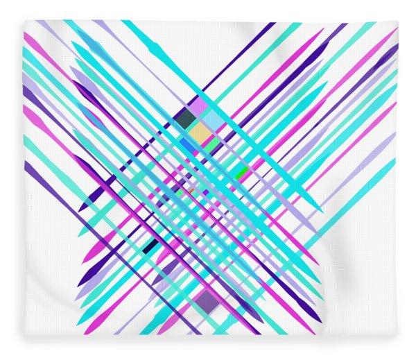 Fleece Blanket featuring the digital art Improvised Geometry #2 by Bee-Bee Deigner