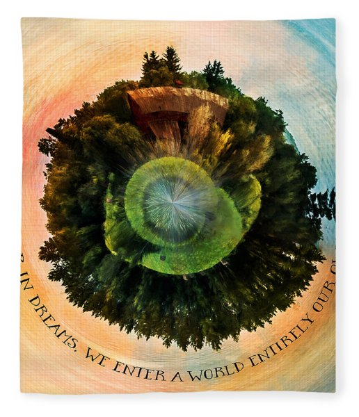In Dreams A World Entirely Our Own Orb Fleece Blanket