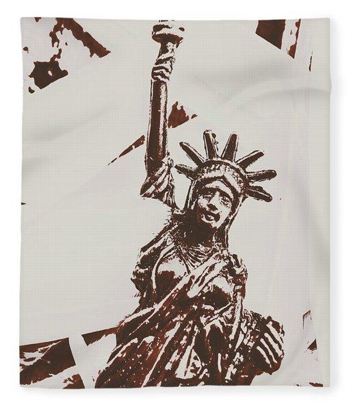 In Liberty Of New York Fleece Blanket