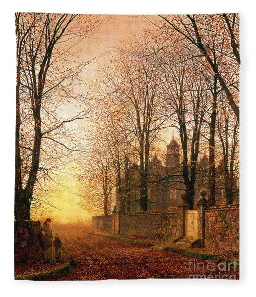In The Golden Olden Time Fleece Blanket