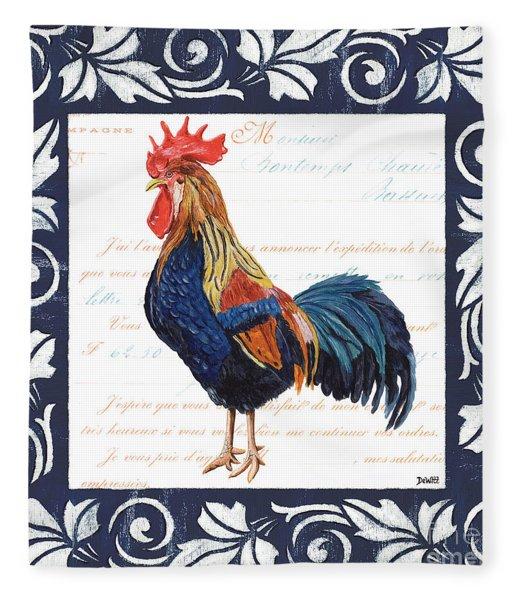 Indigo Rooster 2 Fleece Blanket