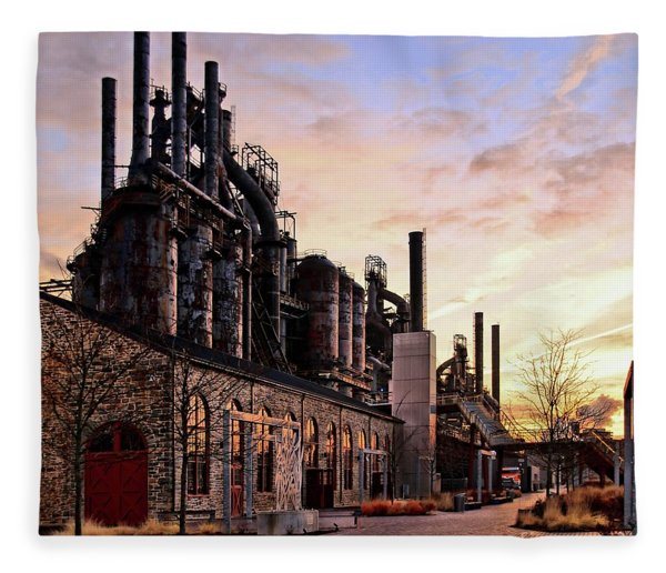 Industrial Landmark Fleece Blanket