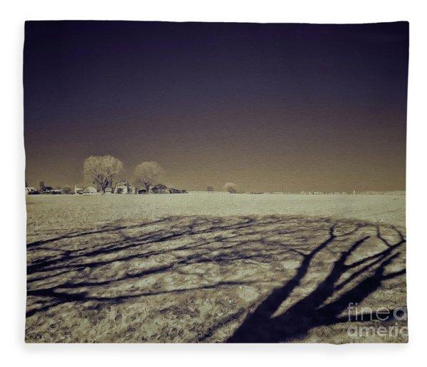 Infrared Landscape Lancaster Pa Fleece Blanket