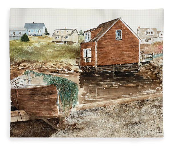 Inlet At Peggy's Cove Fleece Blanket