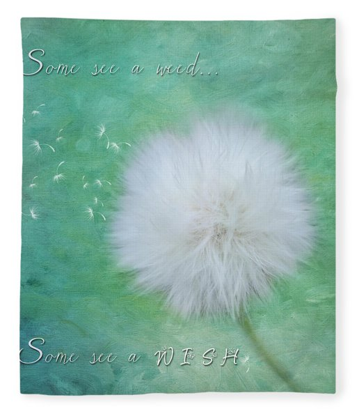 Inspirational Art - Some See A Wish Fleece Blanket