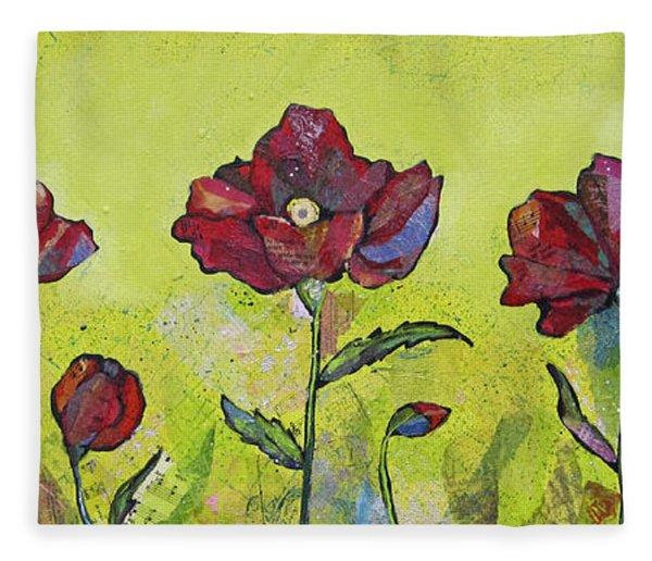 Intensity Of The Poppy I Fleece Blanket