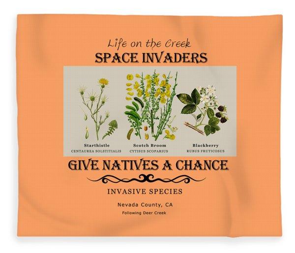 Invasive Species Nevada County, California Fleece Blanket