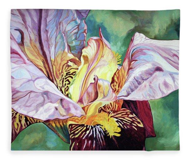 Iris Passion 1993 Fleece Blanket