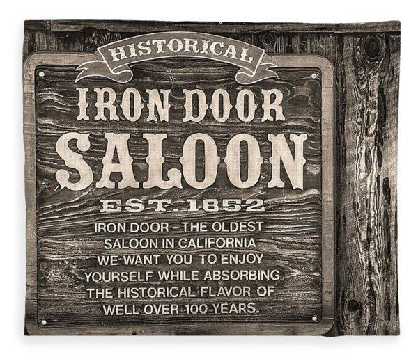 Iron Door Saloon 1852 Fleece Blanket