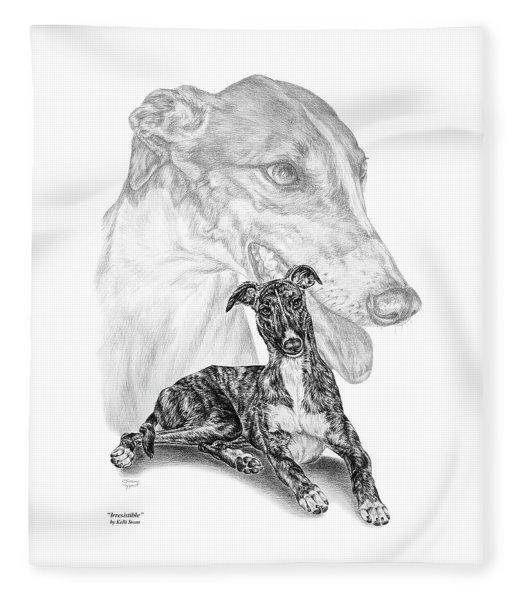 Irresistible - Greyhound Dog Print Fleece Blanket