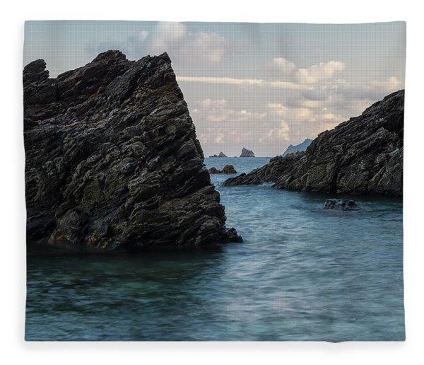 Islets At The Bottom Of The Rocks Fleece Blanket