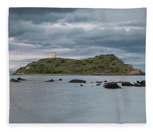 Small Island On The Sea Fleece Blanket