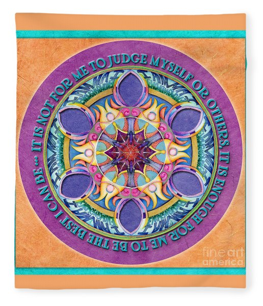 It Is Enough Mandala Prayer Fleece Blanket