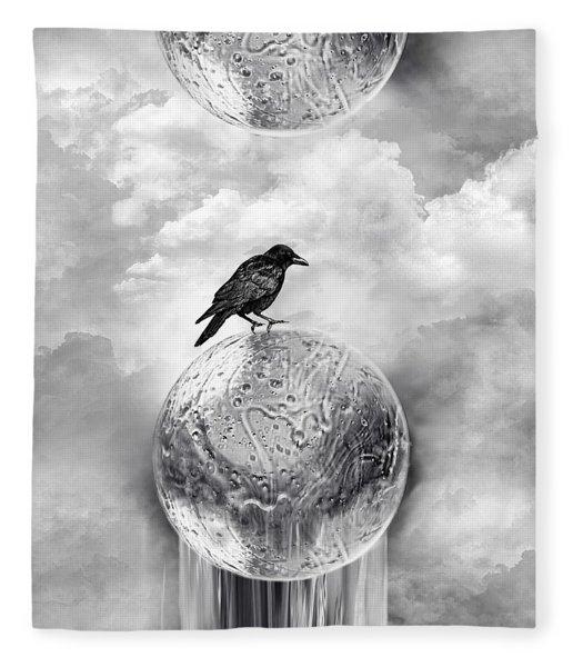 It's A Crow's World Fleece Blanket
