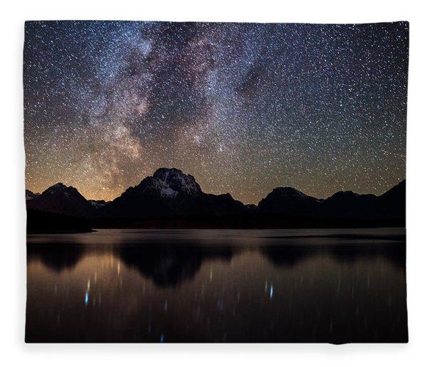 Jackson Lake Milky Way Fleece Blanket