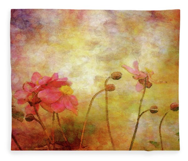 Japanese Anemone Landscape 3959 Idp_2 Fleece Blanket