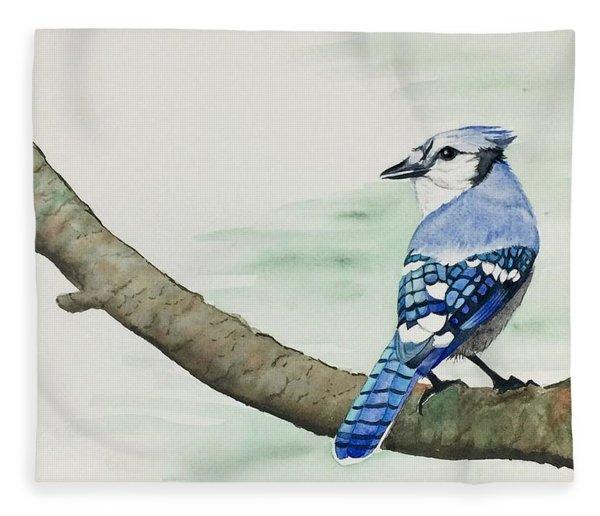 Jay In The Pine Fleece Blanket