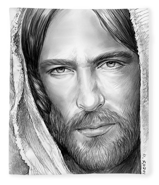 Jesus Face Fleece Blanket