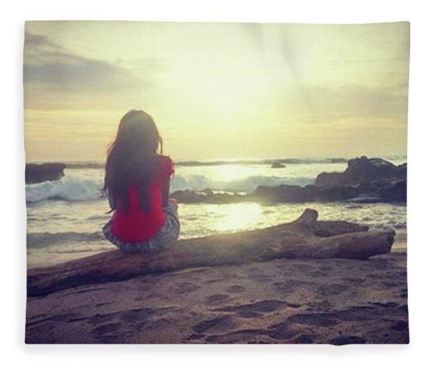 Watching The Light Fleece Blanket
