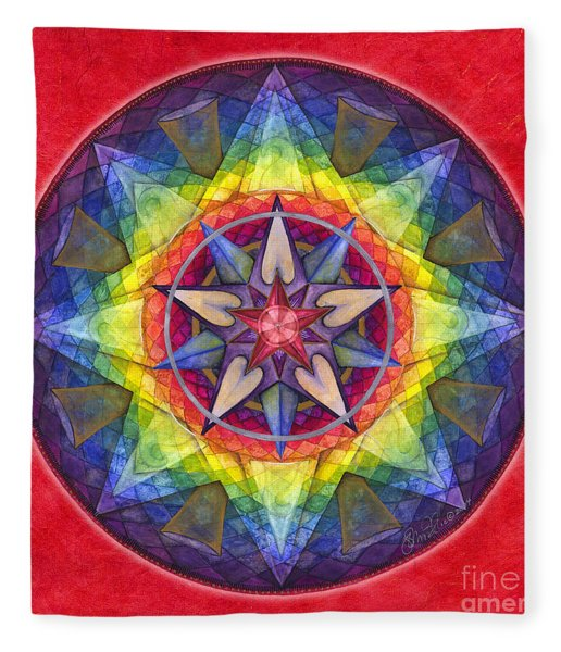 Joy Mandala Fleece Blanket