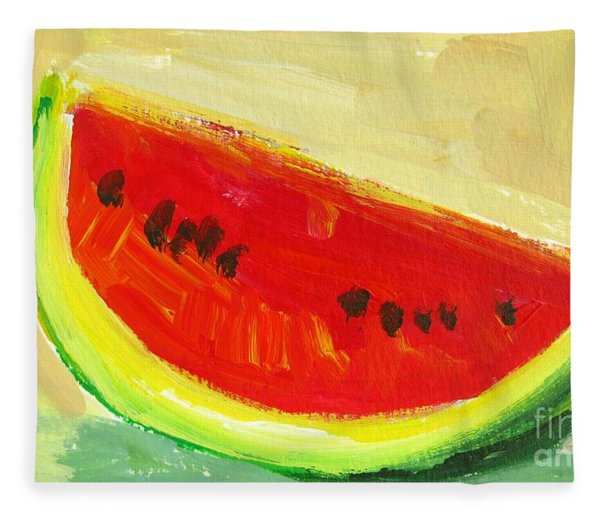 Juicy Watermelon - Kitchen Decor Modern Art Fleece Blanket