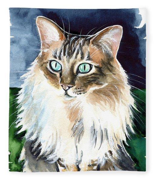 Juju - Cashmere Bengal Cat Painting Fleece Blanket