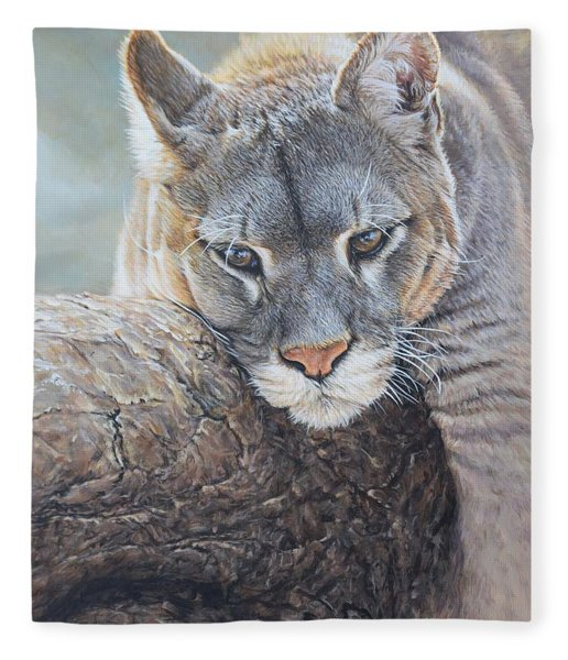 Fleece Blanket featuring the painting Just Chilling by Alan M Hunt