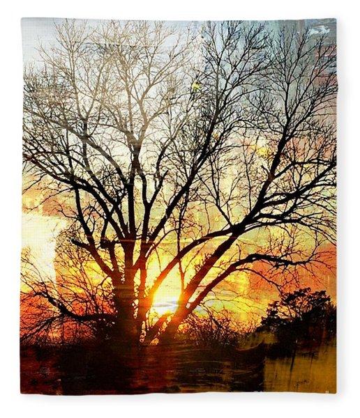 Kansas Sunset Fleece Blanket