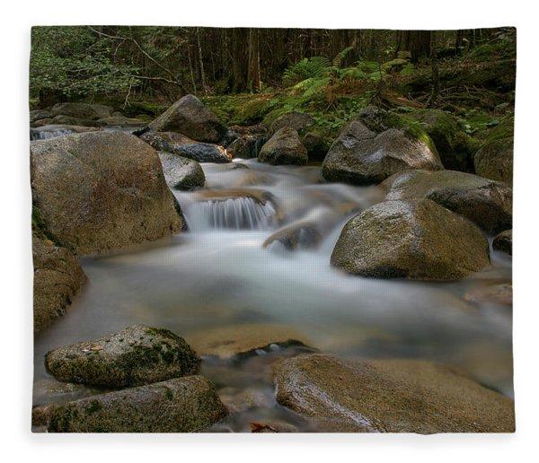 Katahdin Stream Cascades Fleece Blanket