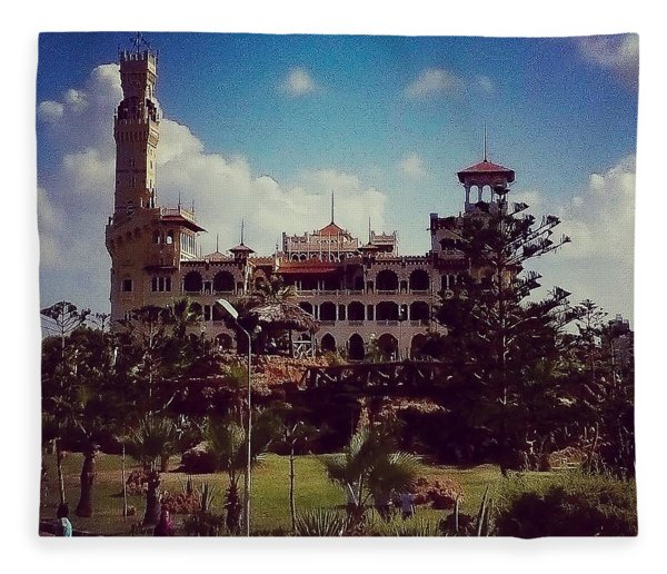 King Farouk Castle, Alexandria, Egypt Fleece Blanket