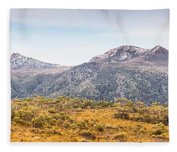 King William Range. Australia Mountain Panorama Fleece Blanket