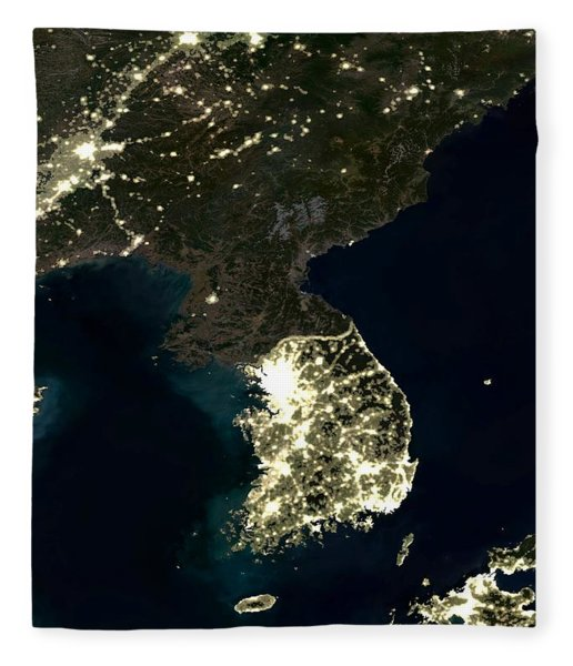 Korean Peninsula Fleece Blanket