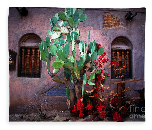 La Hacienda In Old Tuscon Az Fleece Blanket