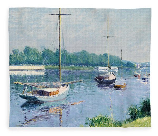 Lake Argenteuil Fleece Blanket