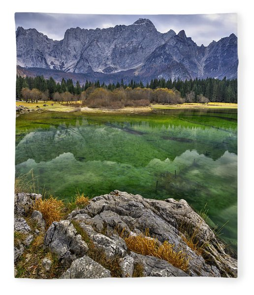 Lake Fusine Fleece Blanket