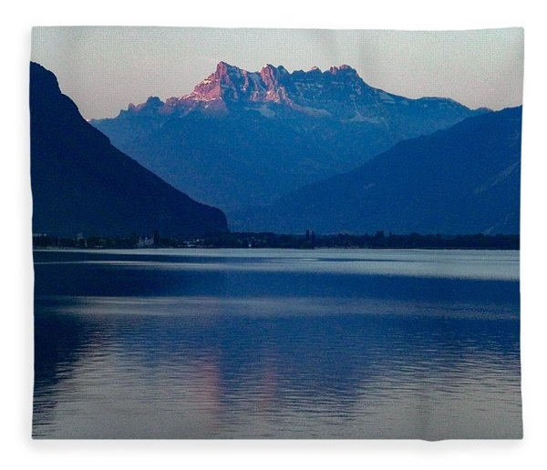 Lake Geneva, Switzerland Fleece Blanket