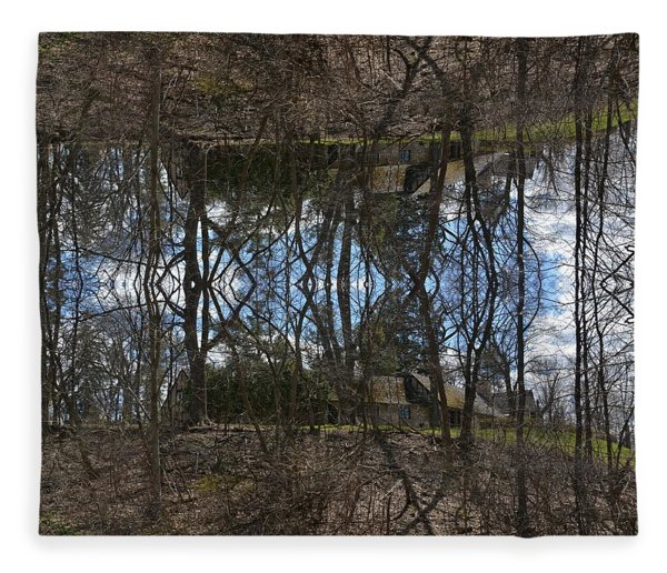 Lake House Fleece Blanket