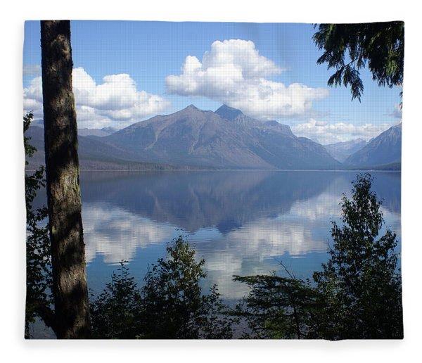 Lake Mcdonald Glacier National Park Fleece Blanket