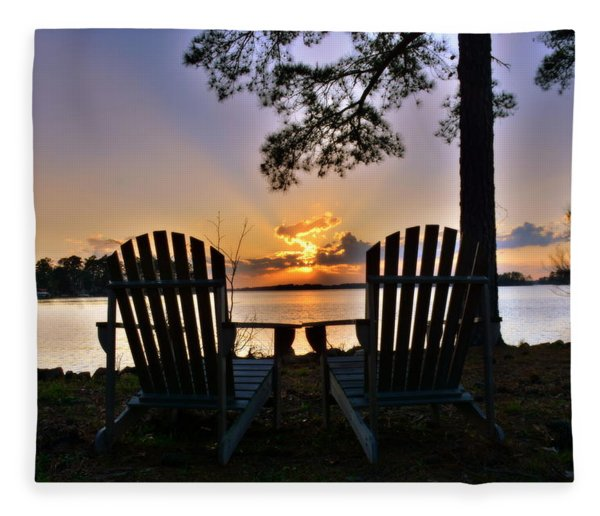 Lake Murray Relaxation Fleece Blanket