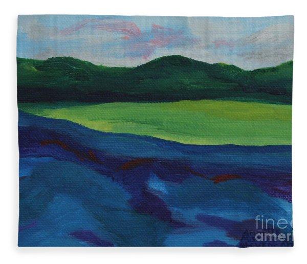Lake Visit Fleece Blanket