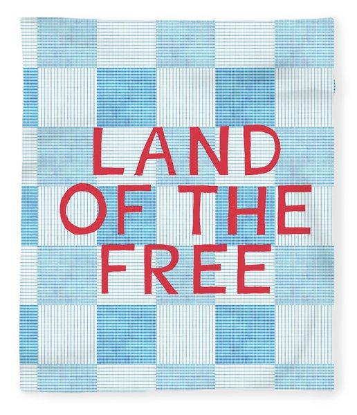 Land Of The Free Fleece Blanket