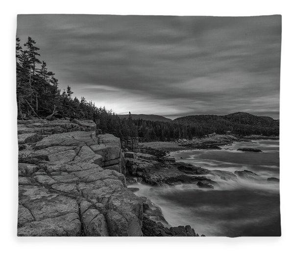 Last Light At Otter Cliff Fleece Blanket