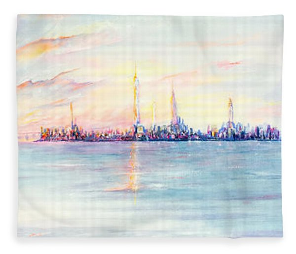 Late Summer Sunset Fleece Blanket