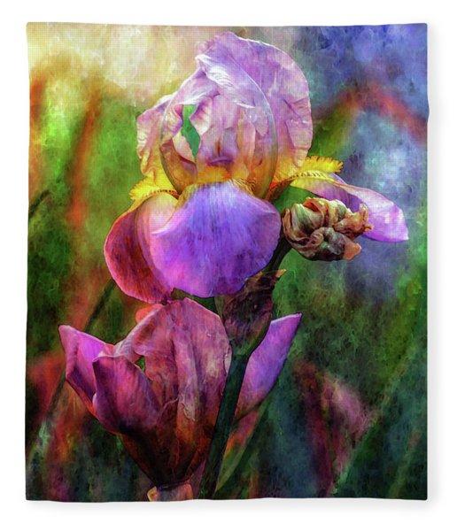 Lavender Iris Impression 0056 Idp_2 Fleece Blanket