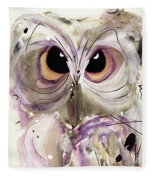 Lavender Owl Fleece Blanket