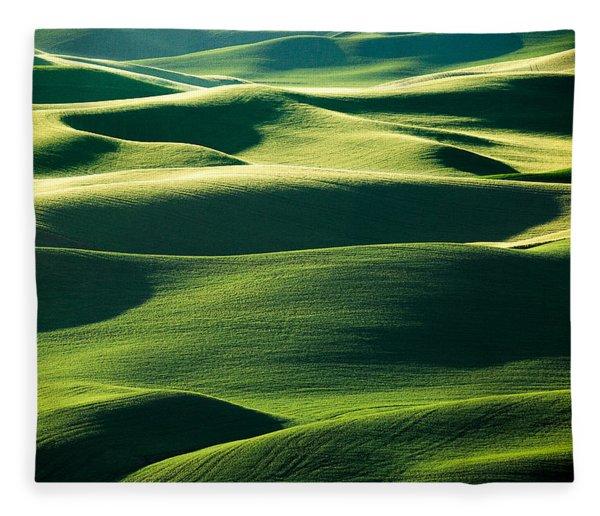 Layers Of Green Fleece Blanket